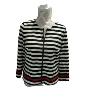 Laundry by Shelli Segal striped zip up jac…